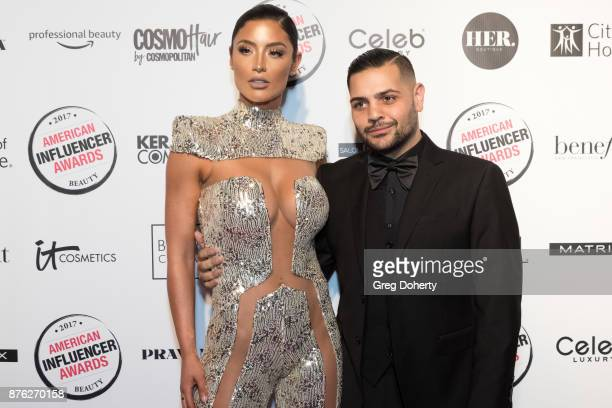 Natalie Eva Marie and Michael Costello attend the American Influencer Award at The Novo by Microsoft on November 18 2017 in Los Angeles California