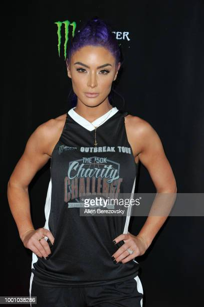 Natalie Eva Marie attends Monster Energy Outbreak $50K Charity Challenge celebrity basketball game at UCLA on July 17 2018 in Los Angeles California