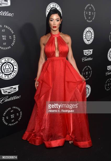 Natalie Eva Marie attends The Art Of Elysium's 11th Annual Celebration on January 6 2018 in Santa Monica California