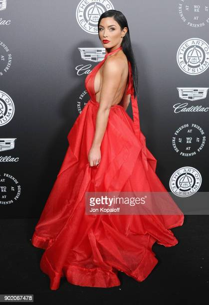 Natalie Eva Marie attends The Art Of Elysium's 11th Annual Celebration Heaven at Barker Hangar on January 6 2018 in Santa Monica California