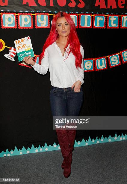 Natalie Eva Marie attends the Read Across America event at Lindbergh Elementary School on March 2 2016 in Lynwood California
