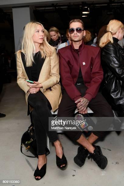 Natalie Franz and Bill Kaulitz attend the Malakaraiss show during the MercedesBenz Fashion Week Berlin Spring/Summer 2018 at Kaufhaus Jandorf on July...