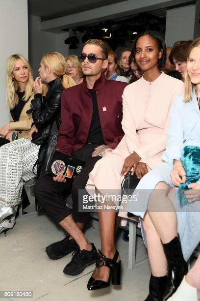 Natalie Franz Bill Kaulitz Sara Nuru and Aino Laberenz attend the Malakaraiss show during the MercedesBenz Fashion Week Berlin Spring/Summer 2018 at...