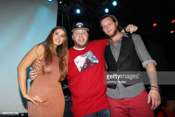 Natalie Friedman DJ Ty Boogie and Orrin Hunter attend the KOPC Origins New York Screening at SOB's on June 12 2017 in New York City