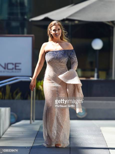 Natalie Friedman is seen outside the 70th Emmy Awards at Microsoft Theater on September 17 2018 in Los Angeles California