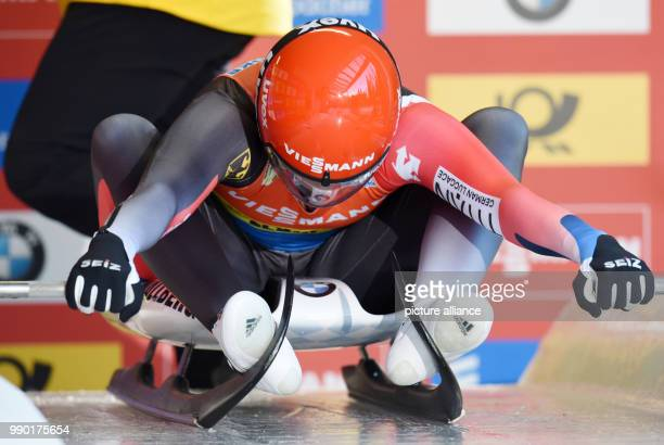 Natalie Geisenberger from Germany prepares for a race in the Luge World Cup at Koenigssee, Germany, 6 January 2018. Photo: Tobias Hase/dpa