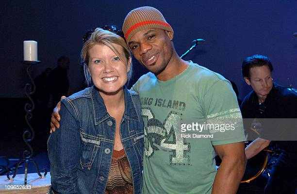 Natalie Grant and Kirk Franklin during 37th Annual GMA Music Awards Rehearsals at Grand Ole Opry in Nashville TN United States