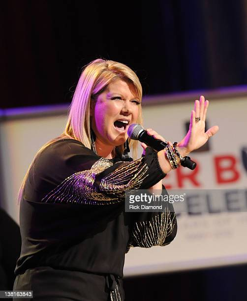 Natalie Grant performs during the Super Bowl Gospel Celebration 2012 at Clowes Memorial Hall of Butler University on February 3 2012 in Indianapolis...