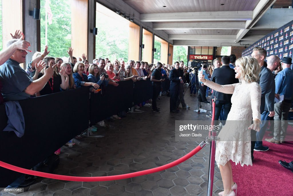 Natalie Grant takes snapchat video of fans at the 5th Annual KLOVE Fan Awards at The Grand Ole Opry on May 28, 2017 in Nashville, Tennessee.