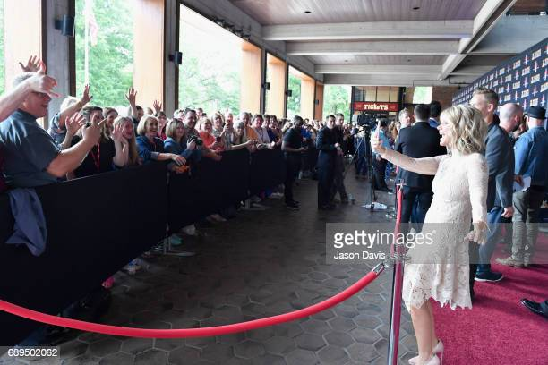 Natalie Grant takes snapchat video of fans at the 5th Annual KLOVE Fan Awards at The Grand Ole Opry on May 28 2017 in Nashville Tennessee