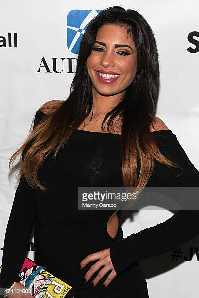 "Natalie Guercio attends Jenni ""JWOWW"" Farley's Birthday Celebration at Drunken Monkey on February 21, 2014 in the Staten Island borough of New York..."