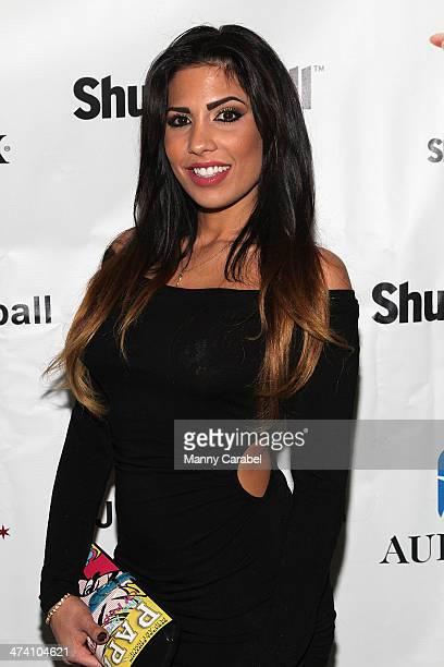 Natalie Guercio attends Jenni JWOWW Farley's Birthday Celebration at Drunken Monkey on February 21 2014 in the Staten Island borough of New York City