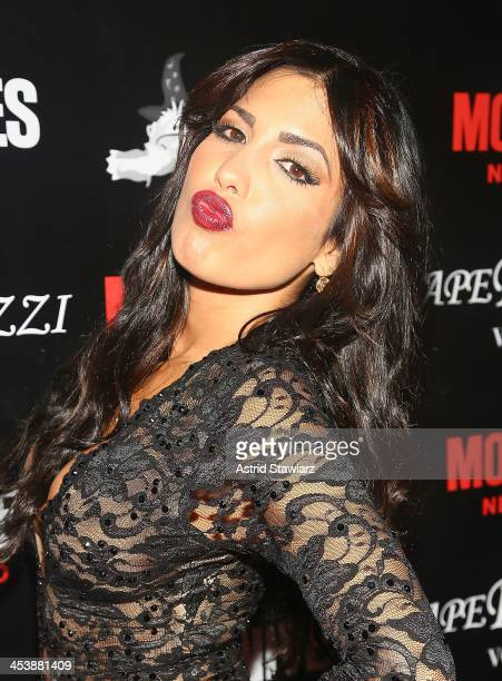 "Natalie Guercio attends ""Mob Wives"" Season 4 premiere at Greenhouse on December 5, 2013 in New York City."