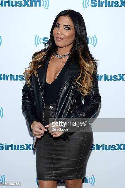 Natalie Guercio of 'Mob Wives' visits at SiriusXM Studios on December 15 2014 in New York City