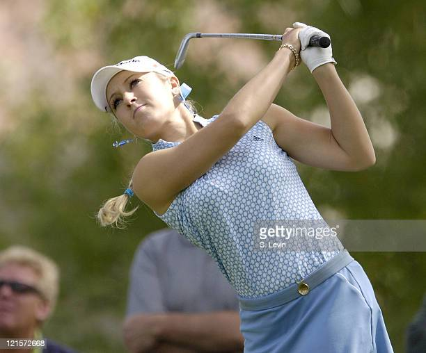 Natalie Gulbis during first round action at the Kraft Nabisco Championships at The Mission Hills Country Club in Rancho Mirage California on Thursday...