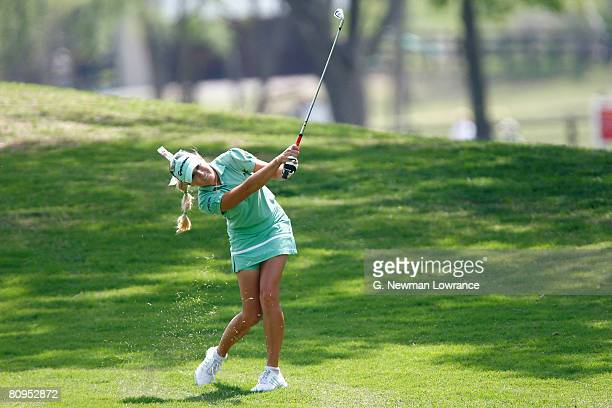 Natalie Gulbis hits a fairway shot on the 17th hole during the first round of the SemGroup Championship presented by John Q Hammons on May 1 2008 at...