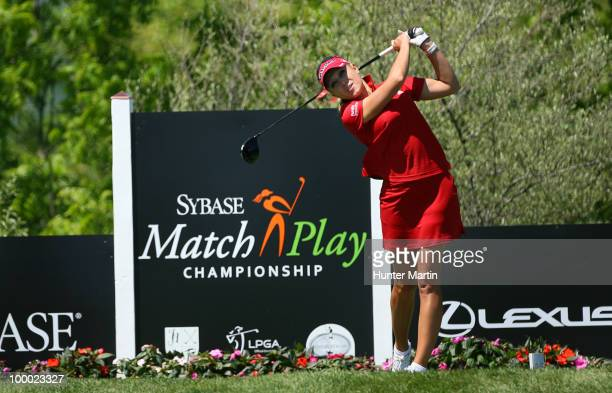 Natalie Gulbis hits her tee shot on the 14th hole during the first round of the Sybase Match Play Championship at Hamilton Farm Golf Club on May 20...