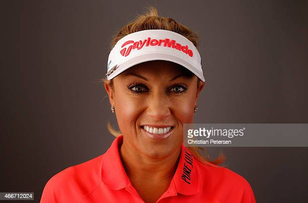 Natalie Gulbis poses for a portrait ahead of the LPGA Founders Cup at Wildfire Golf Club on March 18 2015 in Phoenix Arizona