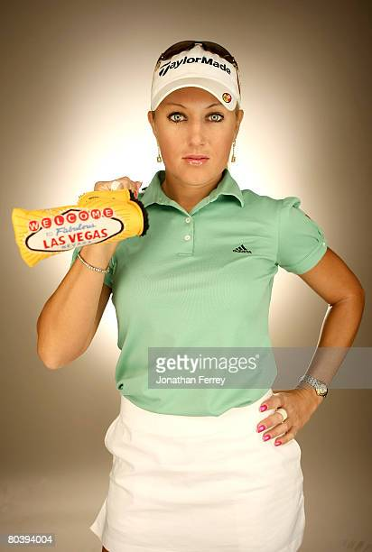 Natalie Gulbis poses for a portrait during the LPGA Safeway International at the Superstition Mountain Golf and Country Club on March 26 2008 in...