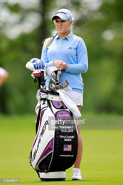 Natalie Gulbis stands on the seventh fairway during round one of the Sybase Match Play Championship at Hamilton Farm Golf Club on May 19 2011 in...