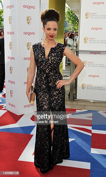 Natalie Gumede arrives at the Arqiva British Academy Television Awards 2012 at Royal Festival Hall on May 27 2012 in London England
