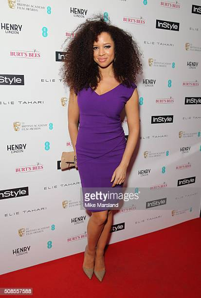 Natalie Gumede attends the InStyle EE Rising Star PreBAFTA Party at 100 Wardour Street on February 4 2016 in London England