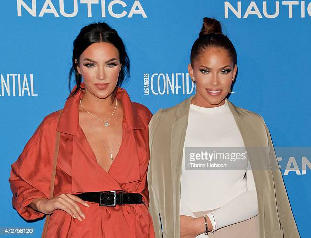 Natalie Halcro and Olivia Pierson attend the 3rd annual Nautica Oceana beach house party at Marion Davies Guest House on May 8 2015 in Santa Monica...