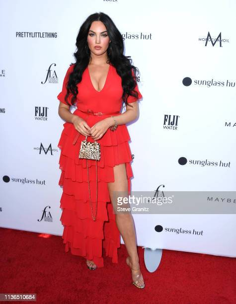 Natalie Halcro arrives at the The Daily Front Row's 5th Annual Fashion Los Angeles Awards at Beverly Hills Hotel on March 17, 2019 in Beverly Hills,...