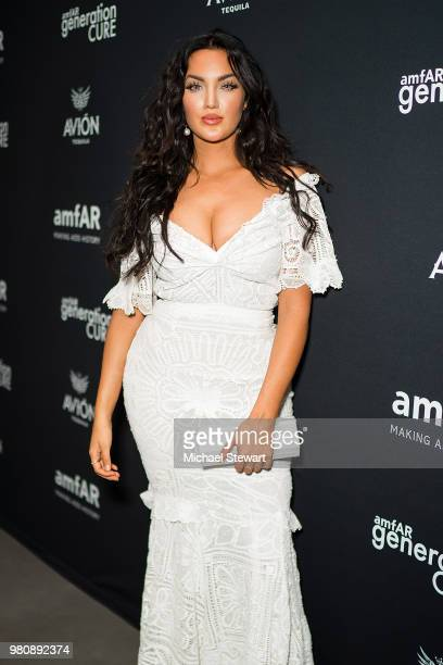 Natalie Halcro attends amfAR GenCure Solstice 2018 at SECOND on June 21 2018 in New York City