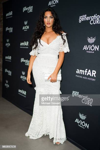 Natalie Halcro attends amfAR GenCure Solstice 2018 at SECOND. On June 21, 2018 in New York City.