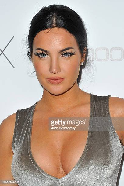 Natalie Halcro attends Boohoo X Jordyn Woods Fashion Event at NeueHouse Hollywood on August 31 2016 in Los Angeles California
