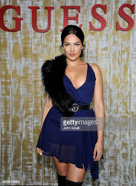 Natalie Halcro attends GUESS Glitz and Glam Holiday event at The Carondelet House on December 13 2016 in Los Angeles California