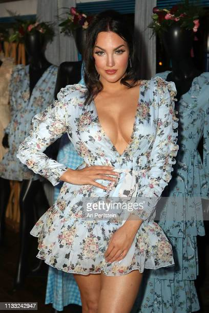 Natalie Halcro attends Nat&Liv x Comino Collaboration Launch at The Little Door on March 27, 2019 in Los Angeles, California.