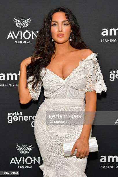 Natalie Halcro attends the amfAR GenCure Solstice 2018 on June 21 2018 in New York City