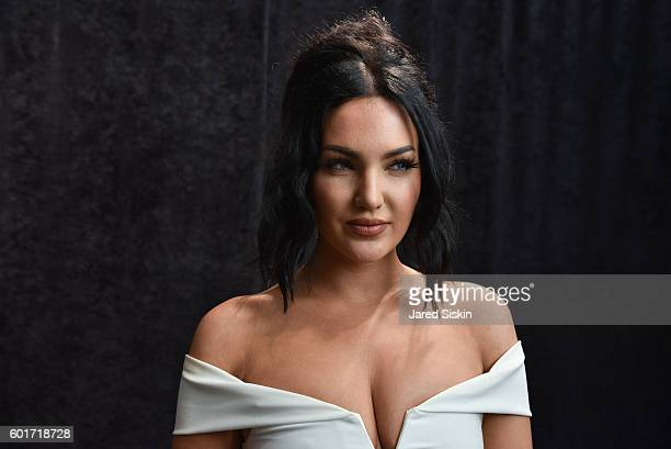Natalie Halcro backstage at the Nicole Miller Spring 2017 Fashion Show at Skylight Clarkson Square on September 9, 2016 in New York City.