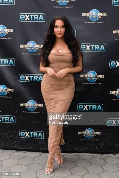 "Natalie Halcro visits ""Extra"" at Universal Studios Hollywood on May 23, 2019 in Universal City, California."