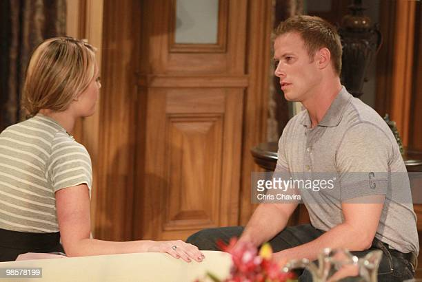 CHILDREN Natalie Hall and Jacob Young in a scene that airs the week of April 26 2010 on Walt Disney Television via Getty Images Daytime's All My...