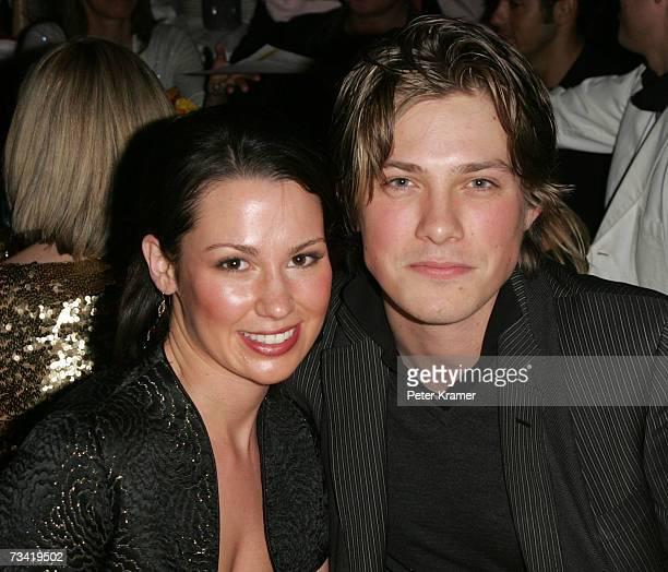 Natalie Hanson and Musician Taylor Hanson attend the Entertainment Weekly Academy Awards viewing party at Elaine's on February 25 2007 in New York...