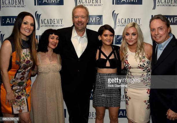Natalie Hemby, Don Schlitz, Laura Veltz, Marren Morris, Jessie Jo Dillon, and Jody Williams attend the 2017 AIMP Nashville Awards on May 8, 2017 in...