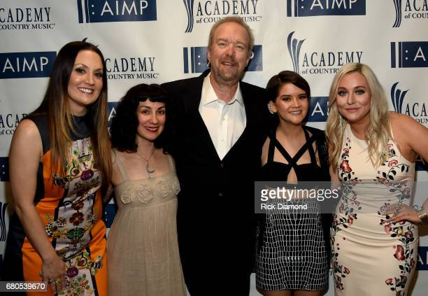 Natalie Hemby, Laura Veltz, Don Schlitz, Marren Morris, and Jessie Jo Dillon attend the 2017 AIMP Nashville Awards on May 8, 2017 in Nashville,...