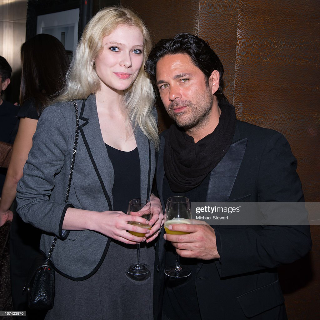 Natalie Hockey (L) and Tate B attend Alvin Valley 'Belle De Jour' Intimate Dinner Party on April 24, 2013 in New York City.
