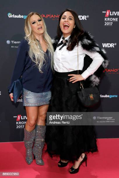 Natalie Horler and Nina Moghaddam attend the 1Live Krone radio award at Jahrhunderthalle on December 07 2017 in Bochum Germany