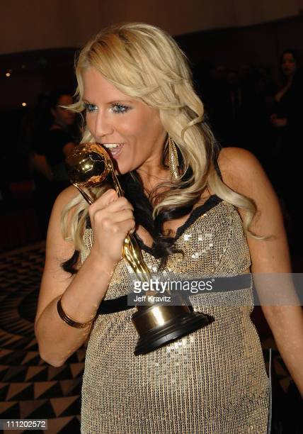 Natalie Horler backstage during the 2007 World Music Awards held at the Monte Carlo Sporting Club on November 4 2007 in Monte Carlo Monaco
