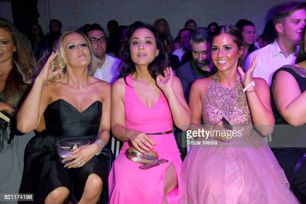Natalie Horler Nina Moghaddam and Sarah Lombardi attend the Unique show during Platform Fashion July 2017 at Areal Boehler on July 22 2017 in...