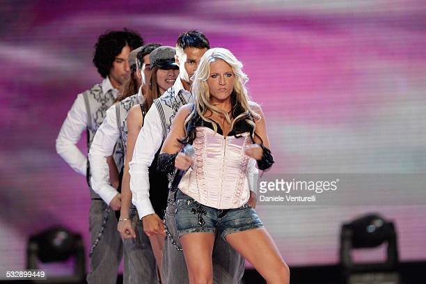 Natalie Horler of Cascada performs on stage during the 2007 World Music Awards held at the Sporting Club on November 4 2007 in Monte Carlo Monaco