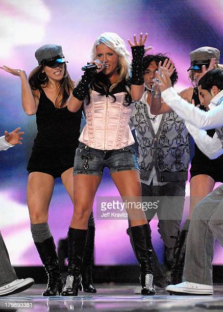 Natalie Horler on stage during the 2007 World Music Awards held at the Monte Carlo Sporting Club on November 4 2007 in Monte Carlo Monaco