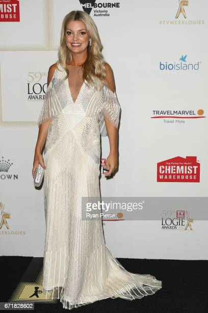 Natalie Hunter arrives at the 59th Annual Logie Awards at Crown Palladium on April 23 2017 in Melbourne Australia