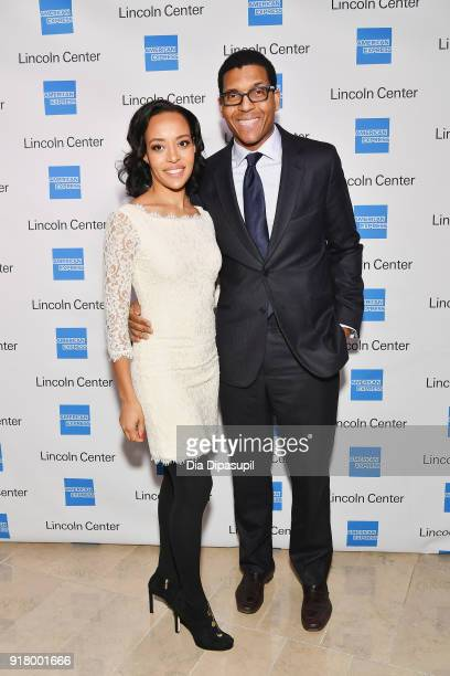 Natalie Hutchinson and Ross Hutchinson attend the Winter Gala at Lincoln Center at Alice Tully Hall on February 13 2018 in New York City