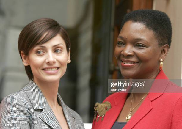 Natalie Imbruglia and Baroness Amos during Global Campaign To End Fistula Press Briefing at The Royal College of Pathologists in London Great Britain