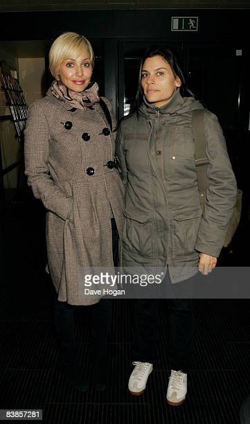 Natalie Imbruglia and guest arrive at the UK premiere of Ano Una at Curzon Renoir Cinema on November 29 2008 in London England